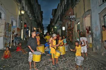 Samba en las calles del Pelourinho