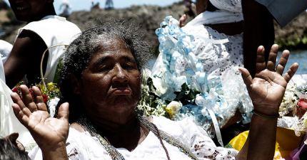 Bahiana en Fiesta de Yemanjá - Salvador de Bahía