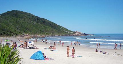 Praia do Rosa lado norte